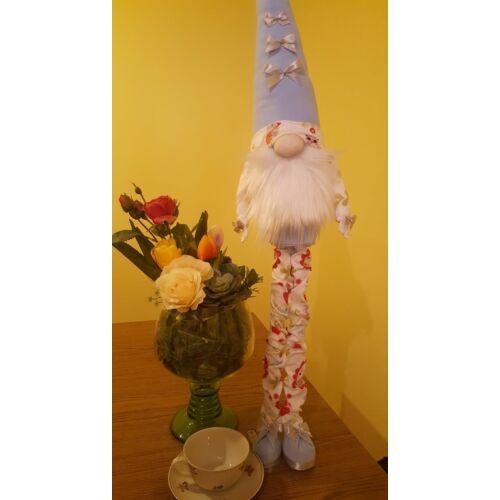 Manó kisfiú világoskék tavaszi ruhában 88 cm