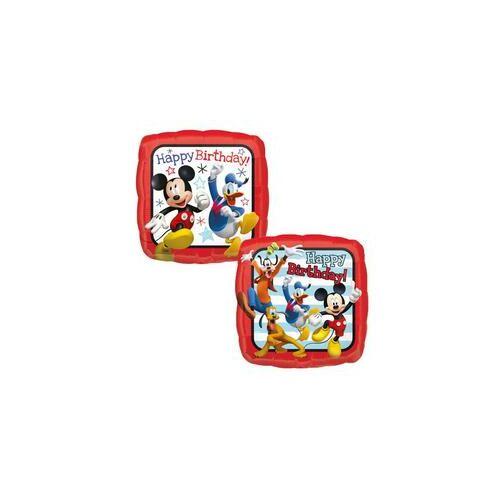 46 cm-es Miki Egér Mickey Mouse & Friends Happy Birthday Roadster Racers Szülinapi Fólia léggömb