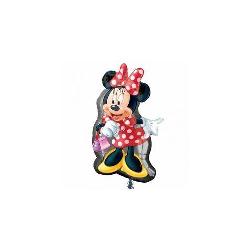 81 cm es Minnie Egér Mouse Full Body - Minnie Egér Pöttyös Ruhában Super Shape Fólia Lufi