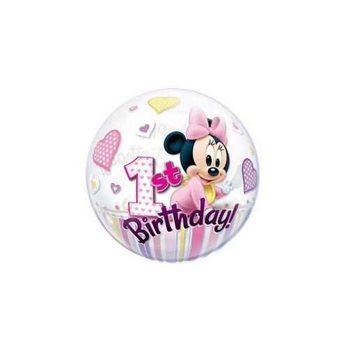 56 cm es Disney Bubbles Minnie Egér Mouse Első Szülinapi Lufi