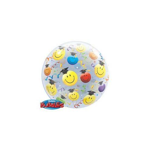 Grad Smile Faces - Mosolygós Arcok Ballagási Bubble Lufi