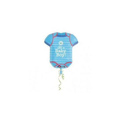 60 cm es Love Boy Kisfiús - Kék Body Super Shape Fólia Lufi Babaszületésre