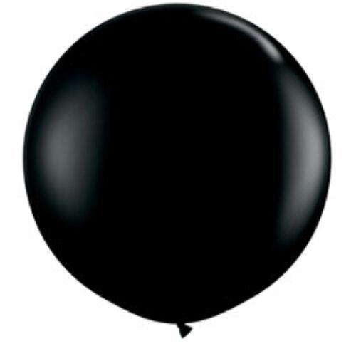 Fekete lufi, 91 cm-es, Fekete- FEKETE SZÍNŰ  Óriási Léggömb,2 db/cs