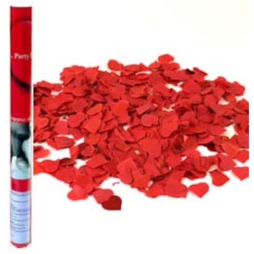Piros Papír Szíveket Kilövő Konfetti Ágyú