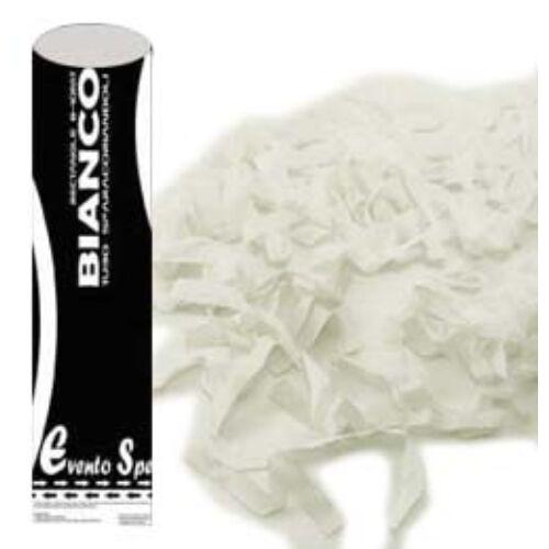 Fehér Színű Papír Szerpentineket Kilövő Konfetti Ágyú