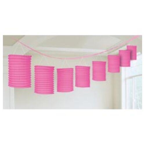 Rózsaszín Lampionfüzér Függő Dekoráció