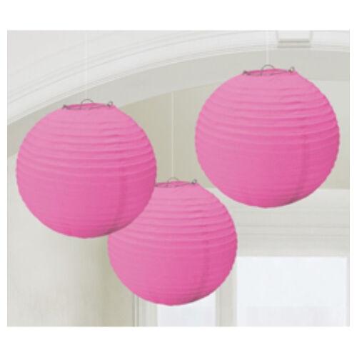Rózsaszín Gömb Parti Lampion - 24 cm