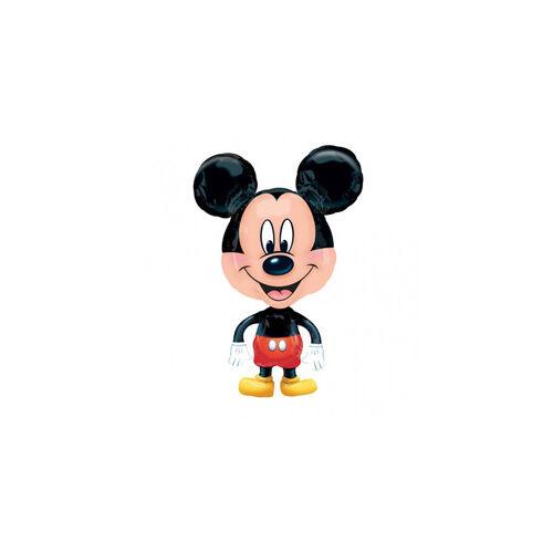 76 cm magas Mikiegér - Mickey Mouse Sétáló Fólia Lufi