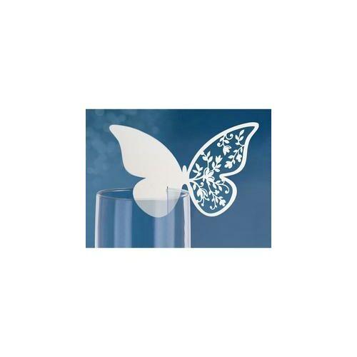 Pillangós Virágos Pohárjelölő Kártya