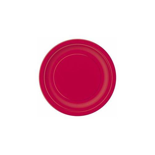Piros Papír Tányér - 23 cm