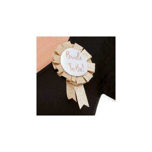 Exluzív Rosegold Glitteres Bride To Be Rozettás Kitűző Lánybúcsúra