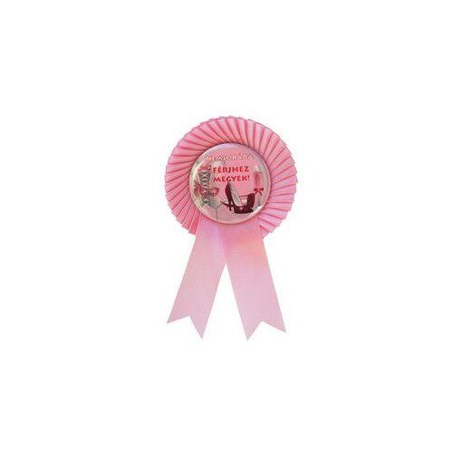 Rózsaszín Szalagos Nemsokára Férjhez Megyek Kitűző Lánybúcsúra
