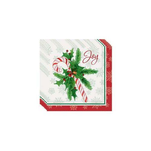 Karácsonyi Szalvéták Candy Cane - Cukorpálca