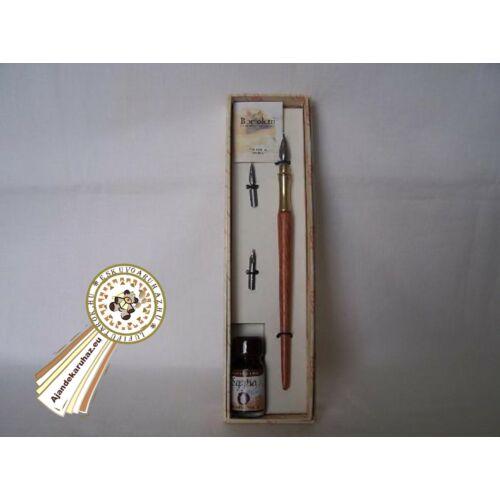 Fa szárú toll, sárgaréz heggyel