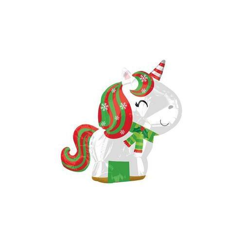 Unicorn-egyszarvú Karácsonyi - Christmas Junior Shape Fólia Luf