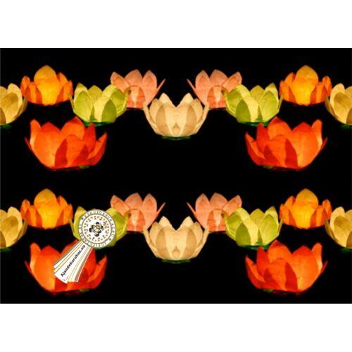 Úszó virág mécse 6db/cs