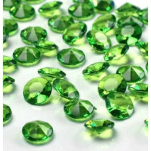 Zöld Gyémánt Alakú Kristály Hatású Dekorkő